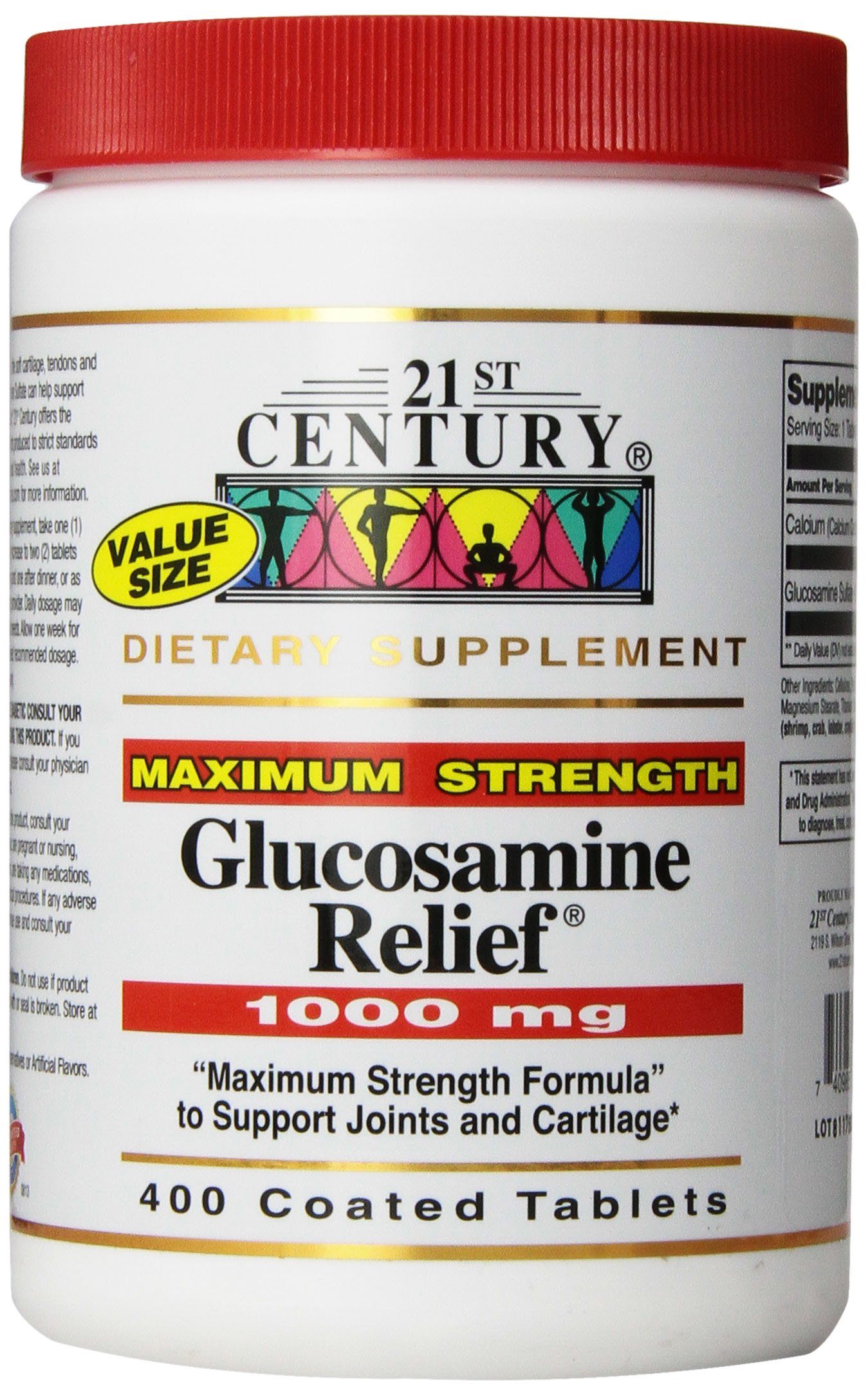 21st Century Glucosamine Relief® 1000mg Tablets, 400 Count