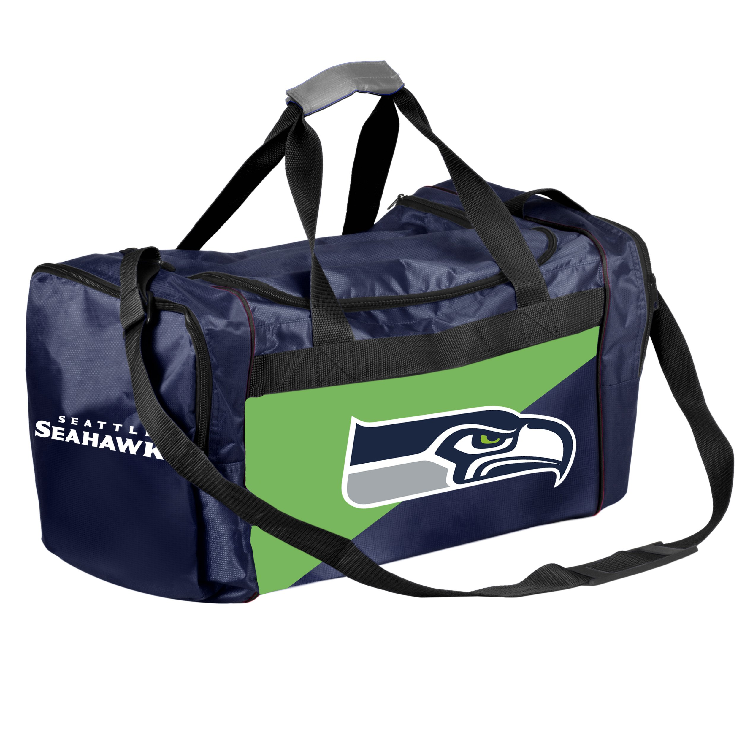 Forever Collectibles Licensed NFL Two Tone Duffle Bags for Seattle Seahawks