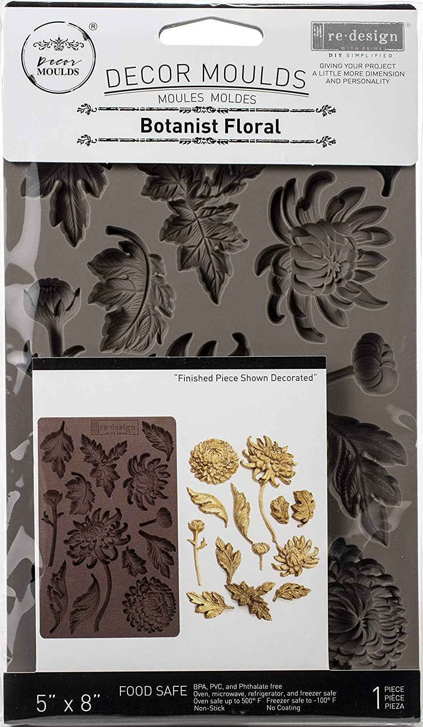 PRIMA MARKETING INC REDESIGN MOULD 5X8 BOTAN FLRL, Botanist Floral