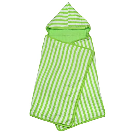 green sprouts Muslin Hooded Towel made from Organic Cotton,Green by green sprouts: Amazon.es: Bebé