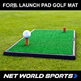 FORB Launch Pad Golf Practice Mat (2-in-1 Fairway/Rough) (60cm x 30cm) – Mini Golf Mat Combining Realistic Fairway & Semi-Rough Lies [Net World Sports]