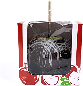 """Worlds 4""""x4""""x4"""" Clear Window Red Candy Apple Box With Hole Top 10 Pack"""