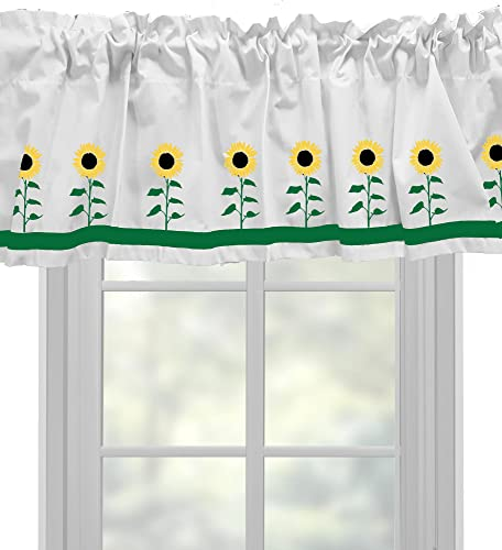Sunflower Window Valance Window Treatment – In Your Choice of Colors – Custom Made