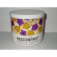 White Barn Bath and Body Works Passionfruit Vanilla Cupcake 3 Wick Candle 14.5 Ounce