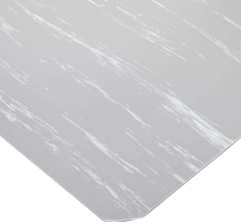 NoTrax 512 Vinyl Marble Tuff Max Anti-Fatigue Floor Mat, 3' Width x 5' Length x 1'' Thickness, Gray