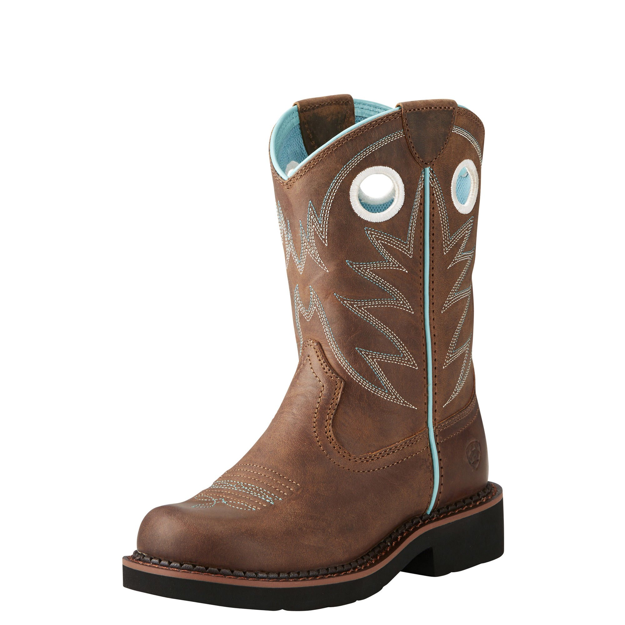 Ariat Kids' Probaby Western Boot, Distressed Brown, 3.5 M US Big Kid