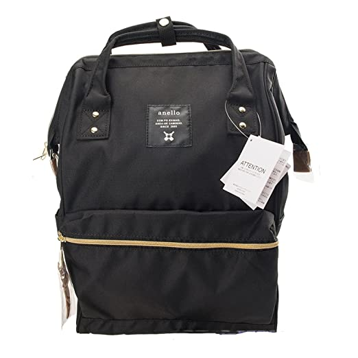 Amazon.com: Japan Anello Oxford Unisex Daypack Backpack School Book Bag (Black): Sports & Outdoors