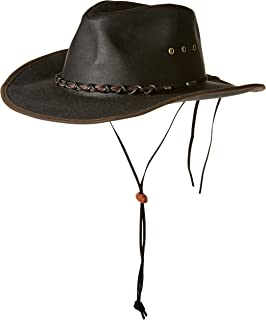 Minnetonka Western Hat Adult Airflow Fold Up Outback Black 9539 at ... 350804acf8d7