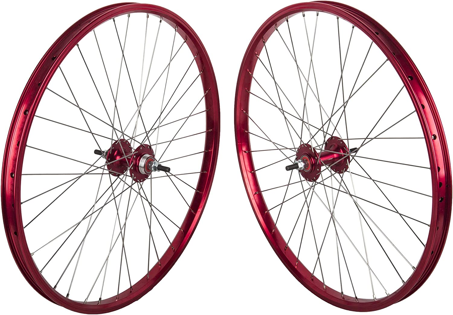 "Black Ops DW1.1 Wheelset 26"", Red"