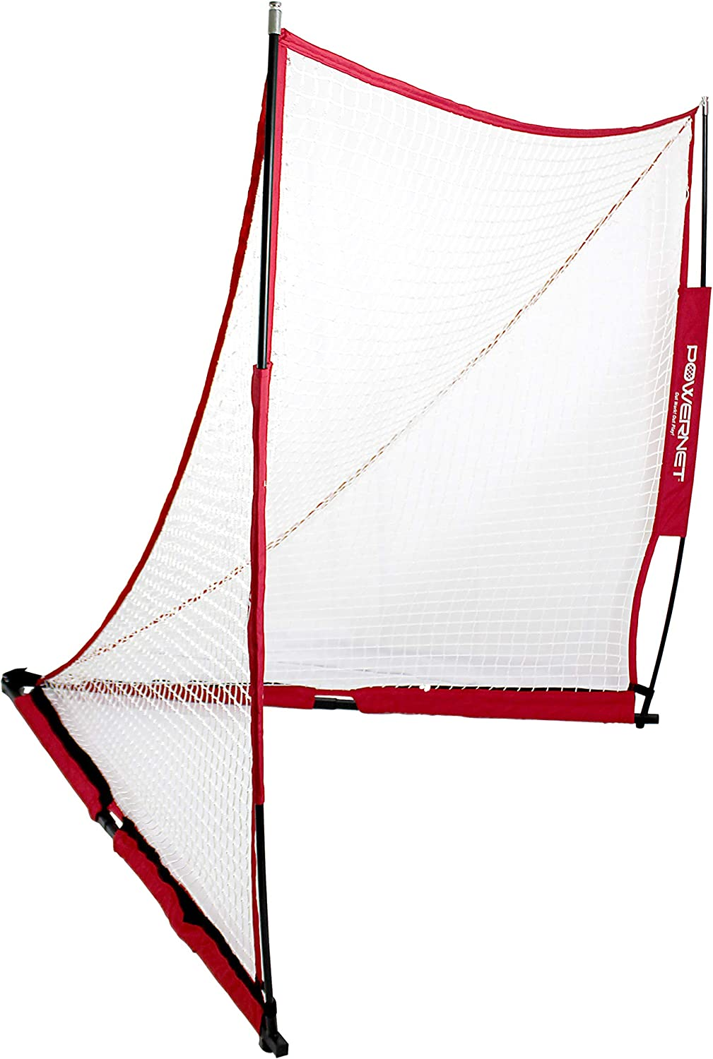PowerNet Portable Lacrosse Goal | Choose from Two Sizes 6x6 or 4x4 | Quick and Easy 2 Minute Setup No Tools Required | Perfect for Practice or Scrimmages | Bow Style Frame | Carrying Bag Included