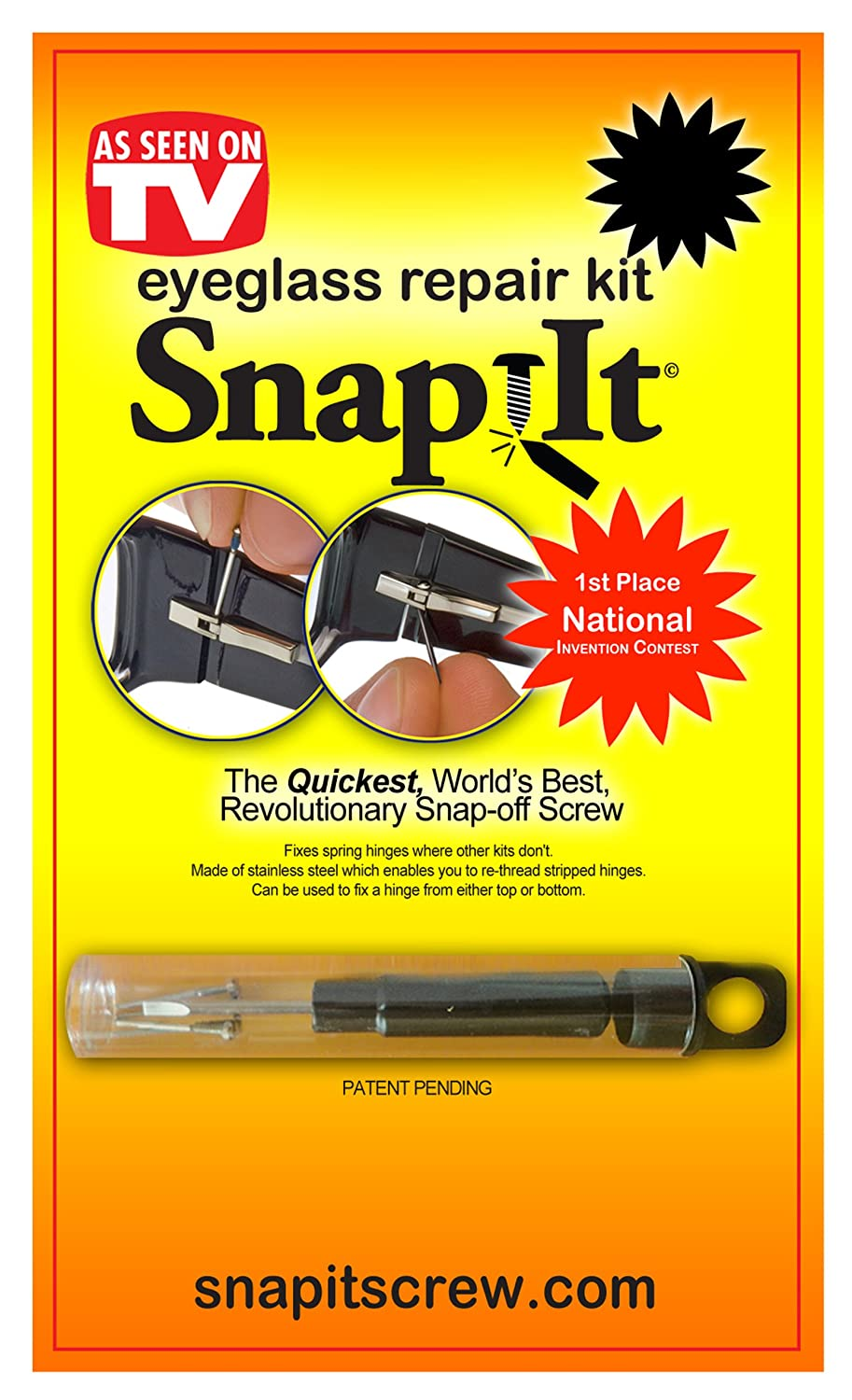 4ee71957a54a Amazon.com: Snap It Eyeglass Repair Kit: Health & Personal Care