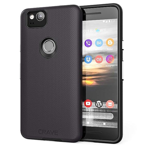 newest 72442 fcedf Google Pixel 2 Case, Crave Dual Guard Protection Series Case for Google  Pixel 2 - Black