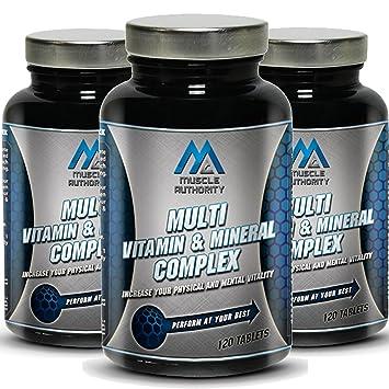 Muscular Autoridad de múltiples vitaminas y minerales complejos 120/240 Tabletas (120): Amazon.es: Salud y cuidado personal