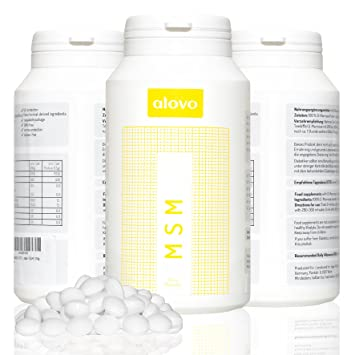 MSM tabletas 1.000mg 120 PC. de alovo incl. Certificado de análisis, methylsulfonylmethane