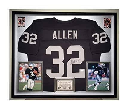 d01db47d711 Image Unavailable. Image not available for. Color  Premium Framed Marcus  Allen Autographed Signed Raiders Jersey - JSA COA