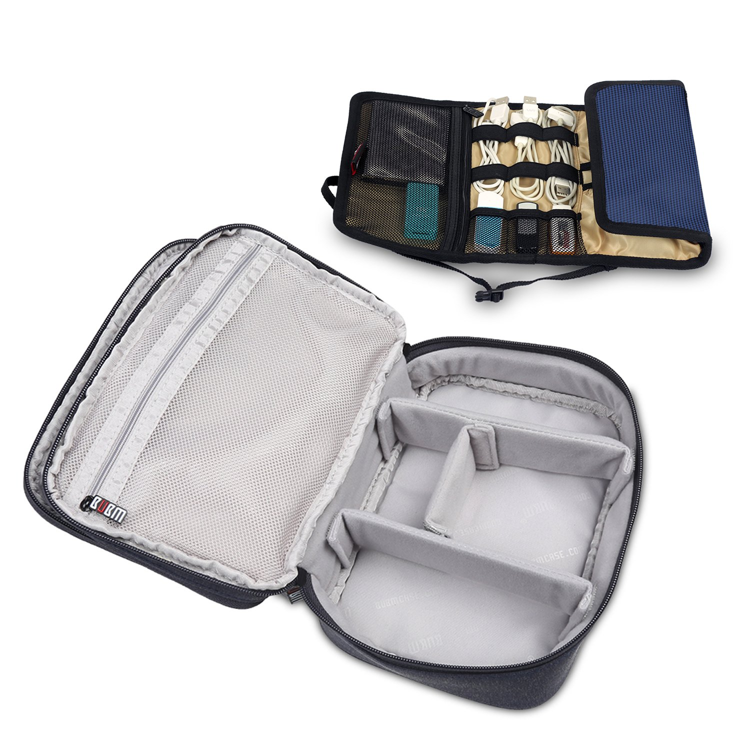Digital Storage Bags For Home Travel Organizer Bag For Electronics Accessories (2P Grey)