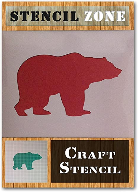 Bear Wild Animal Forest Mammal Mylar Airbrush Painting Wall Art Crafts Stencil 1