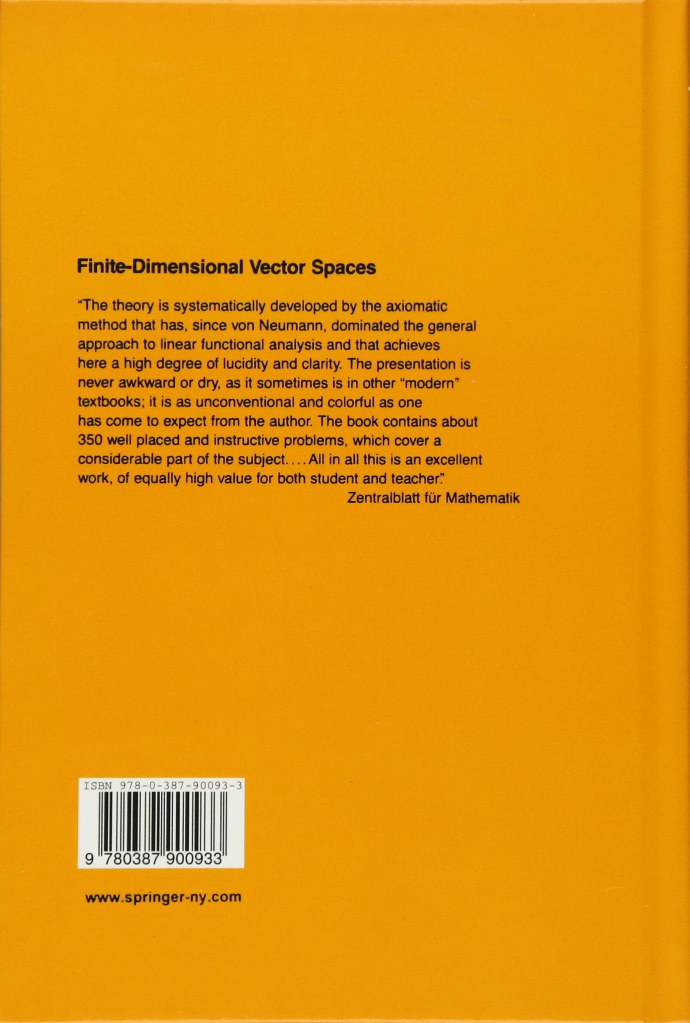 Buy finite dimensional vector spaces undergraduate texts in mathematics book online at low prices in india finite dimensional vector spaces