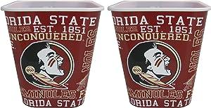 Boelter NCAA Florida State Seminoles 3 Liter Reusable Plastic Snack Bucket 2 Pack