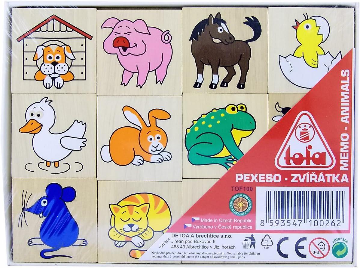 Detoa, tarjetas de memoria juego de mesa con animales, Beige (naturaleza): Amazon.es: Bebé