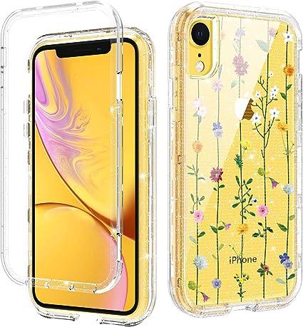 Amazon Com Domaver Iphone Xr Case Floral Clear Iphone Xr Cases