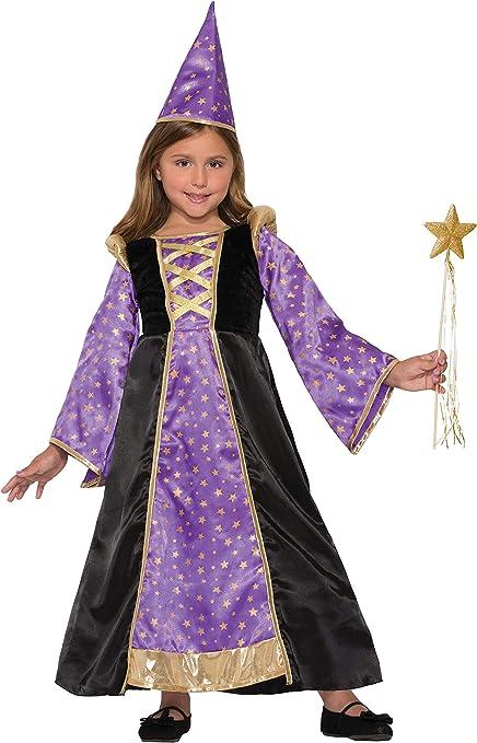 Forum Novelties Kids Winsome Wizard Costume, Purple, Medium