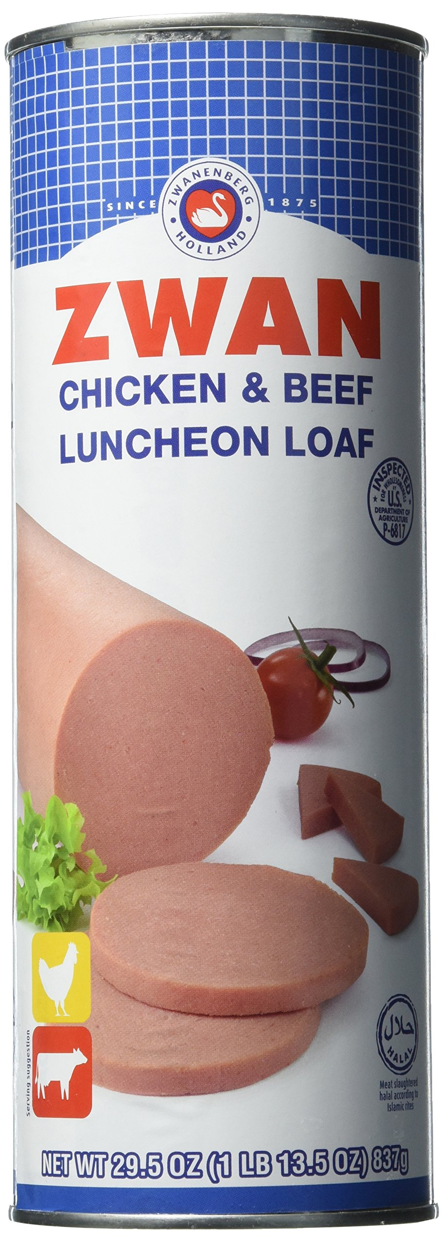 Zwan Luncheon Halal Loaf Meat, Chicken/Beef, 29.5 Ounce