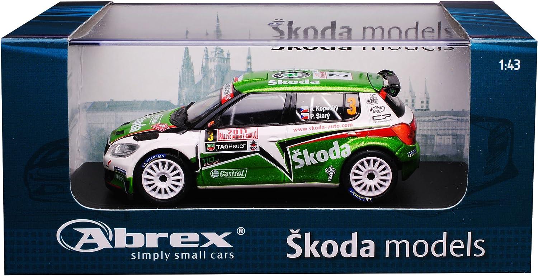 Abrex Skoda Fabia II S2000 Rally Monte Carlo Monaco No 3 2011 Kopecky Stary 604TC 1//43 Modell Auto mit individiuellem Wunschkennzeichen