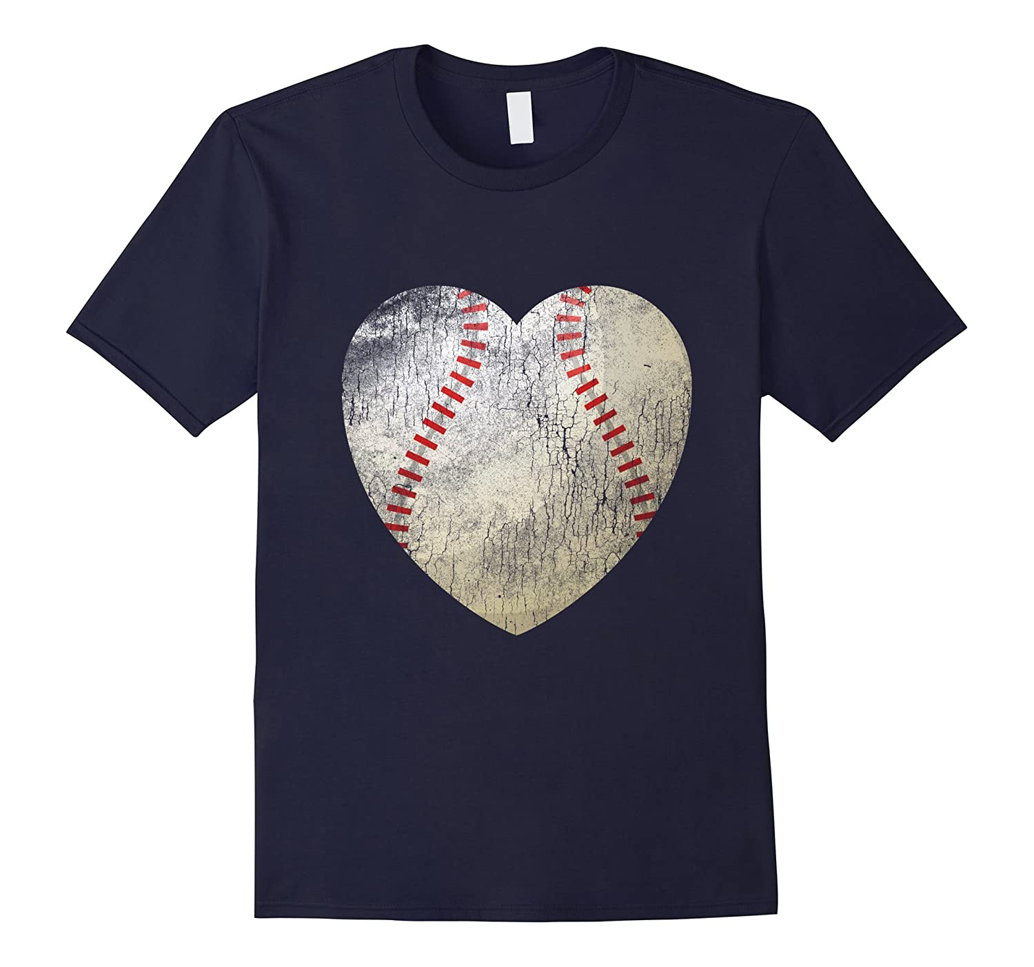 Baseball Heart Ball Love T Shirt Softball Gift for Mom Dad-TD