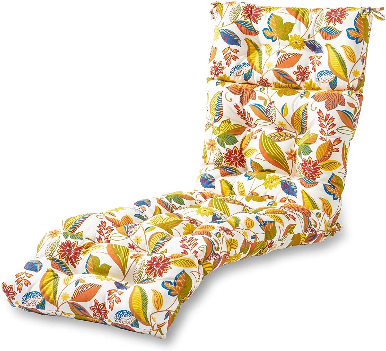 Havenside Home Dana Point 72-inch Outdoor Floral Chaise Lounger Cushion