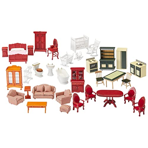 Melissa U0026 Doug Classic Victorian Wooden And Upholstered Dollhouse Furniture  (35 ...