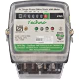 Techno Single Phase Static Energy Meter With Counter Upto 60Amps