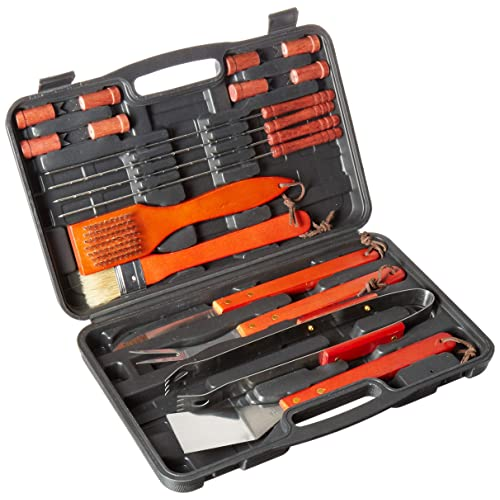home complete cominhkpr121761 hc 1001 wood bbq grill tool set 18 pc stainless