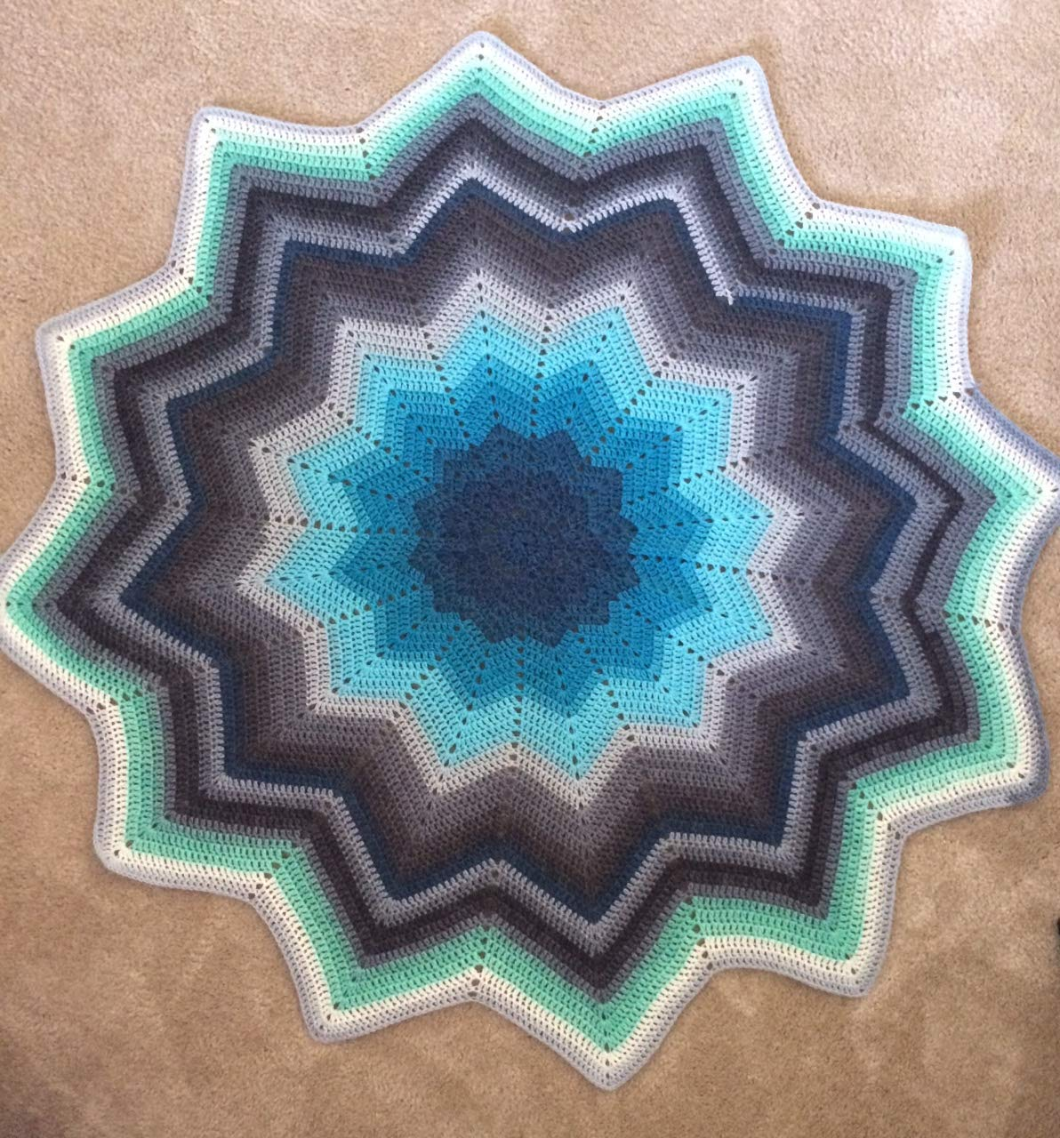 In the Tropics, Star Ripple Baby Blanket   Blue, Navy ...   Amazon.com
