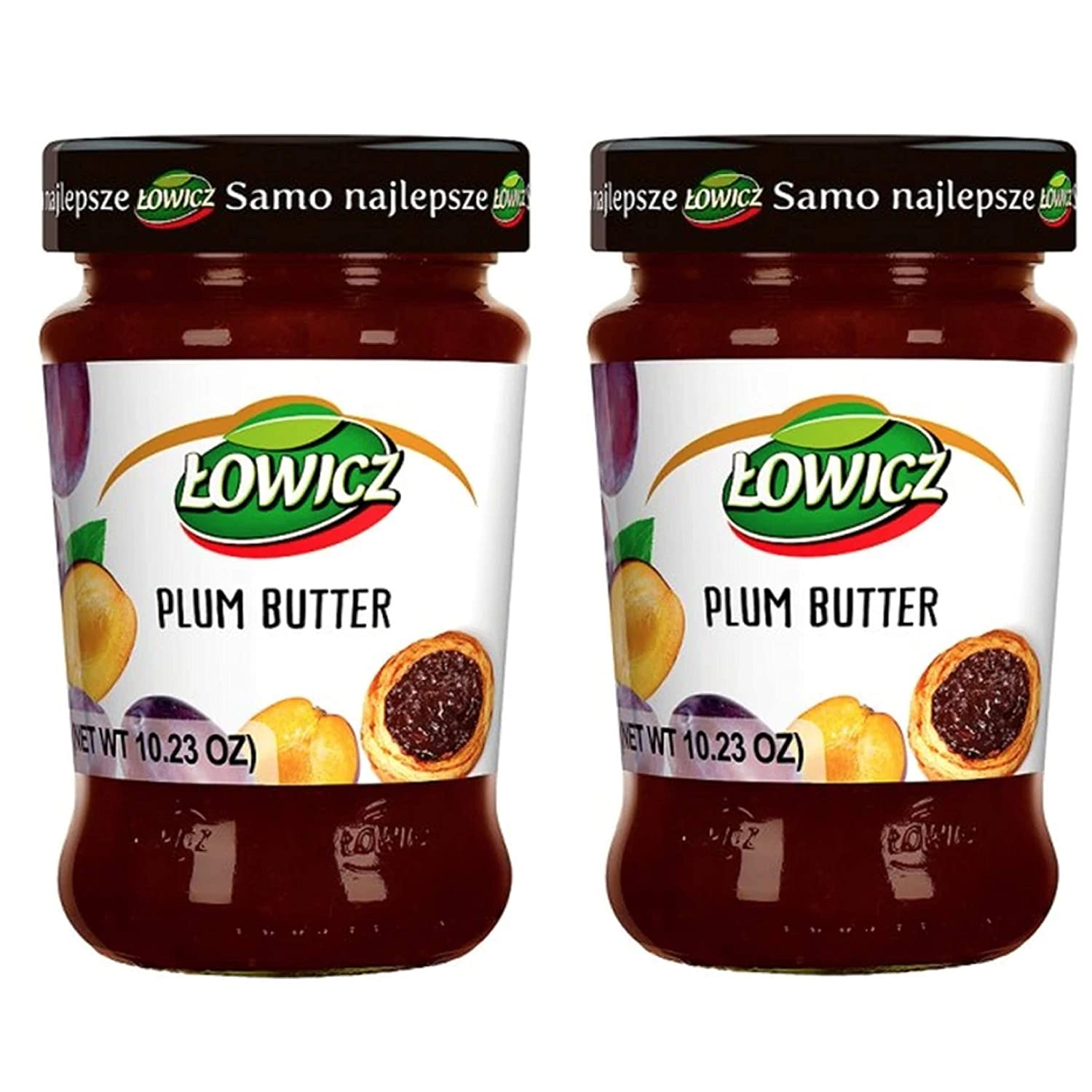 Lowicz Powidla Plum Butter 280 g (Pack of 2). Product from Poland.