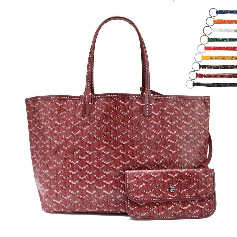 Stylesty Fashion Shopping PU Tote Bag, Designer Shoulder Handbags with Key Ring (Medium, Purplish Red)
