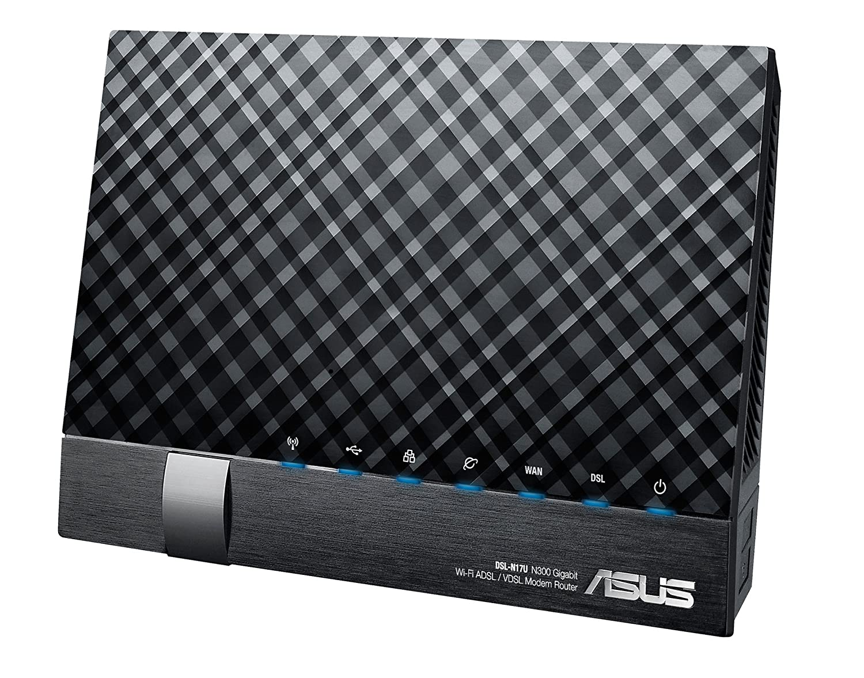 Asus DSL-N17U N300 WLAN-Modemrouter schwarz: Amazon.de: Computer ...