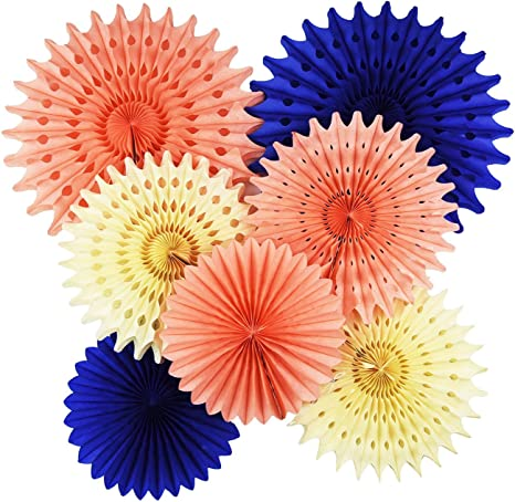 Party Pinwheel Decorations Paper Fans Hanging Decoration Birthday Wedding Hen Do