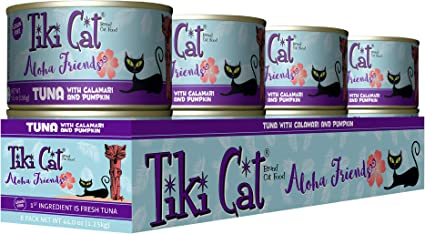 Tiki Cat Aloha Friends Grain-Free Low-Carbohydrate Wet Food with Flaked Tuna...