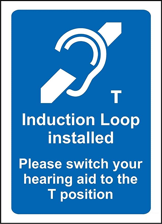 Amazon Induction Loop Installed Notice Sign 3mm Aluminium