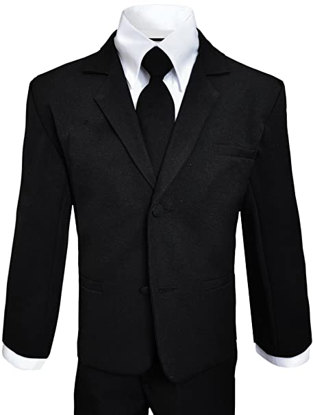 b6a50e2d915f 2 Button Boys Suits in Black Complete outfit Size 7  Amazon.ca ...