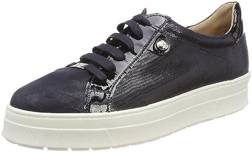 Caprice 23700, Zapatos de Cordones Oxford para Mujer, Plateado (Silv Rept Comb 962), 40 EU