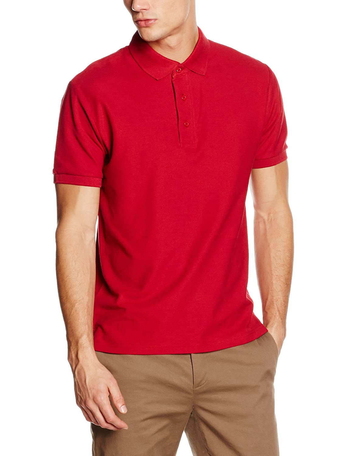Fruit of the Loom SS044M, Polo Para Hombre, Rojo (Brick Red), XX ...