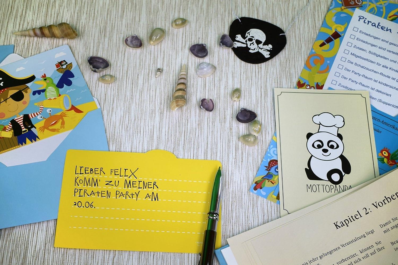 Lieblich 8 Kinder Piraten Party Set Für Piraten Kindergeburtstag Inkl.  Mitmach Geschichte, Mitgebsel, Geburtstagsdekoration, Einladungskarten U0026  Geburtstags Rezepte: ...