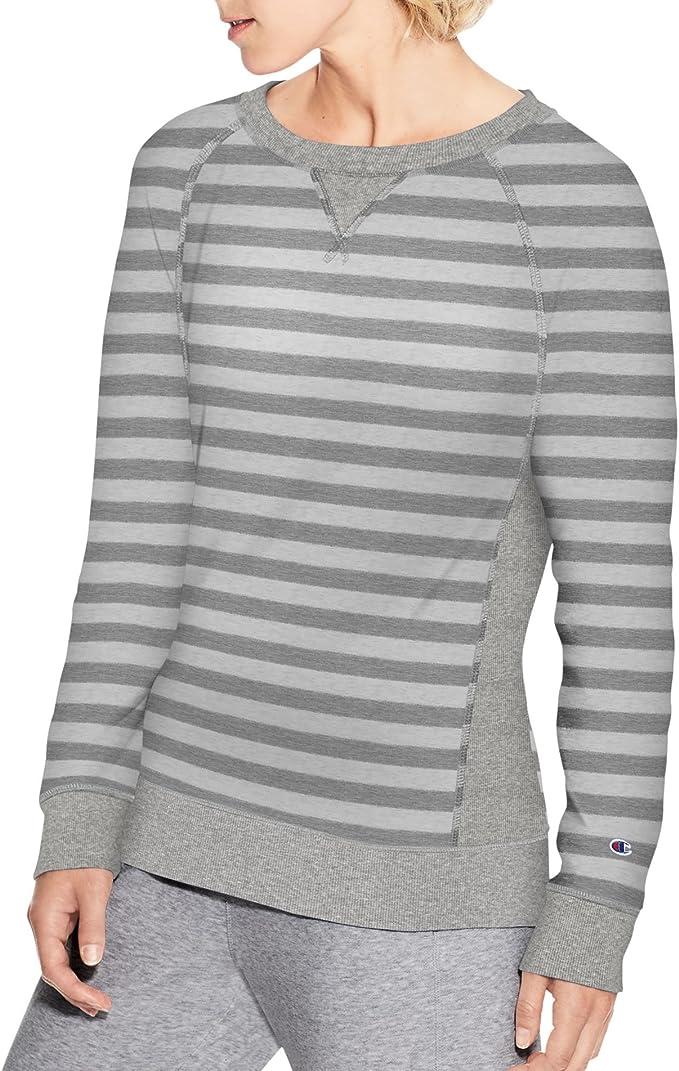 Champion Sweatshirt Women French Terry Crew Long Sleeve Script Logo Heritage