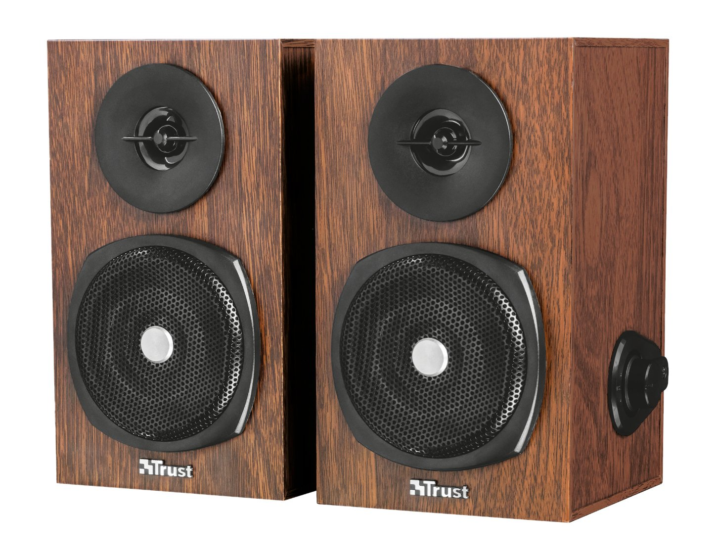 Trust Vigor - Set de Altavoces de Madera 2.0, 24 W, Color marrón