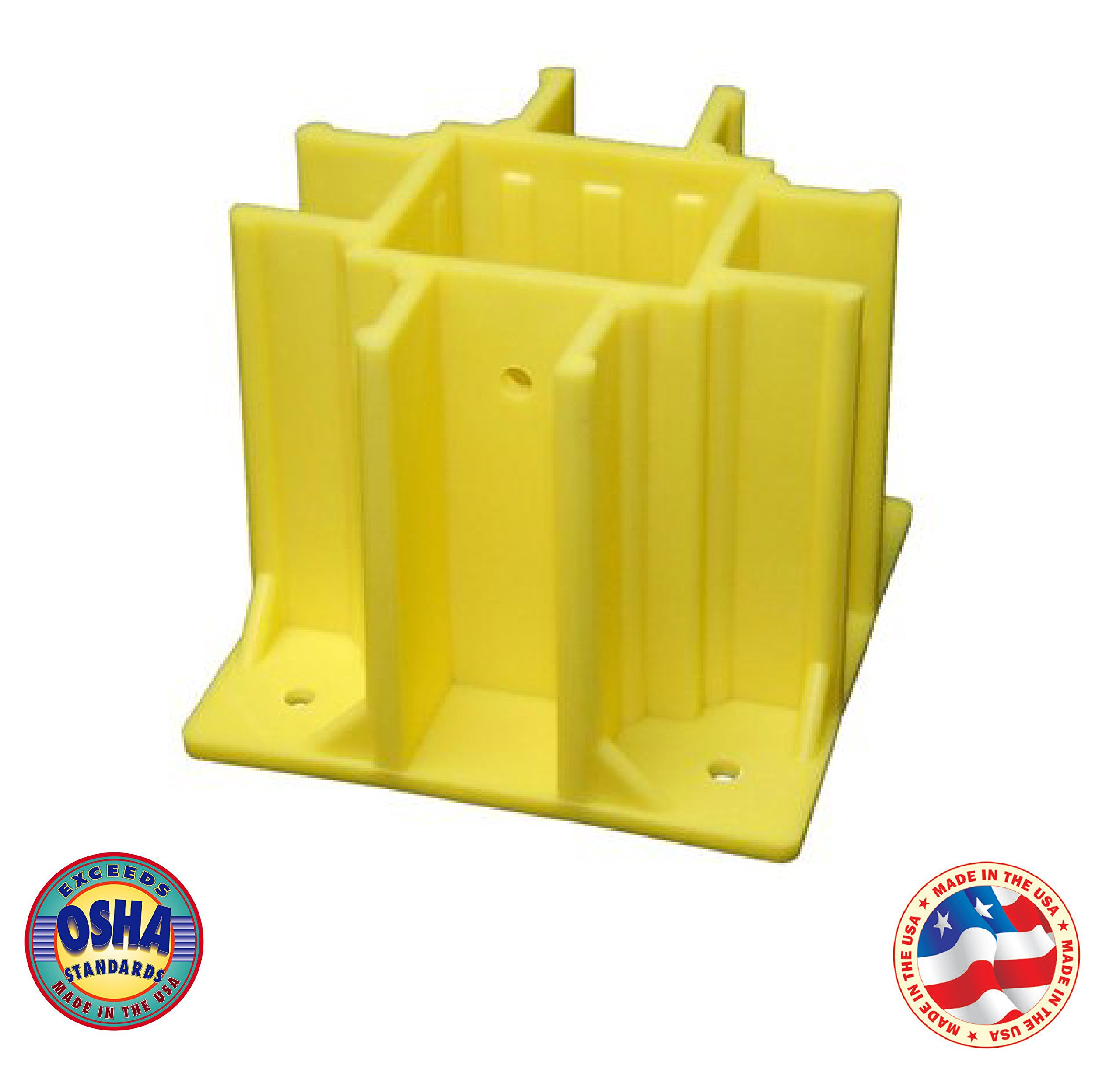 Safety Boot Yellow OSHA Temporary Guard Rail System by Safety Maker (24 Units)