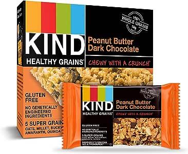 Kind Healthy Grains Bars, Peanut Butter Dark Chocolate, 1.2 Ounce, 5 Count