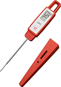 Lavatools PT09C Commercial Grade Digital Instant Read Meat Thermometer for Kitchen, Food Cooking, Grill, BBQ, Smoker, Candy, Home Brewing, and Oil Deep Frying (Chipotle Compact)