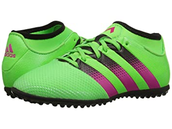 best service 4edf3 06cd1 Adidas Performance Ace 16.3 Primemesh TF JUNIOR (Solar Green Shock  Pink Core Black
